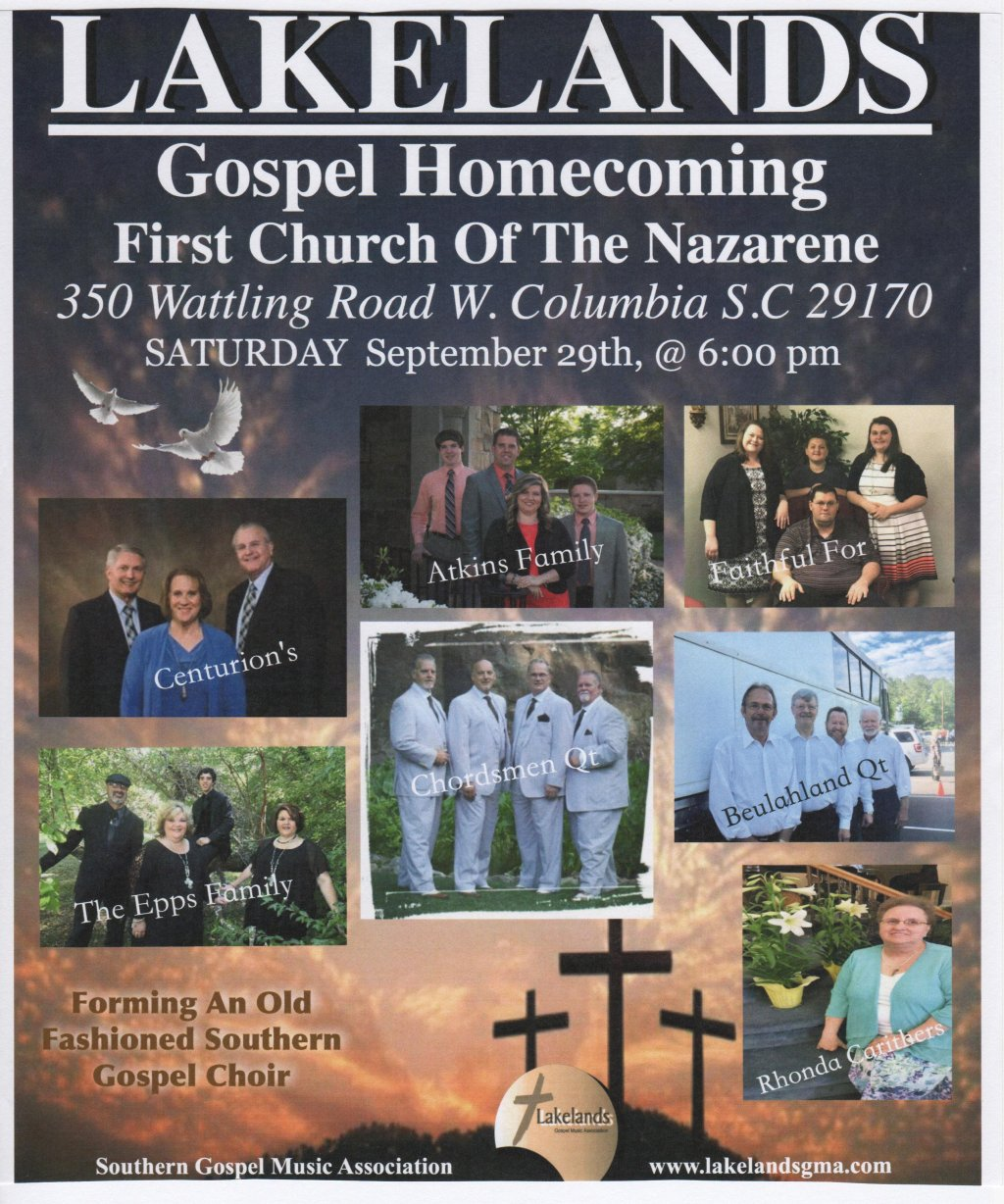 Lakelands Gospel Homecoming at 6:00